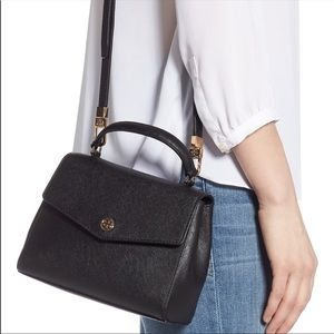 Tory Burch Bags - New Tory Burch Small Robinson Black Top Handle Bag